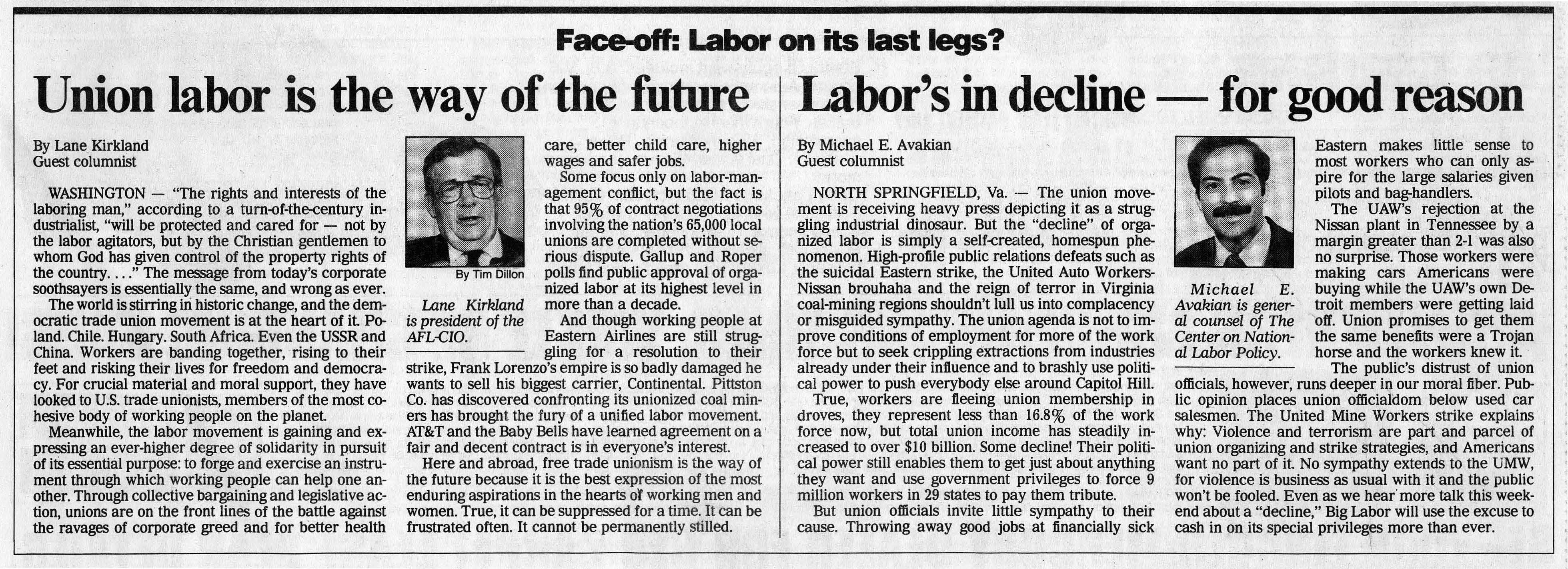the labor union Labor unions historically developed out of a desperate need to protect the rights of the worker they are responsible for better wages, reasonable hours, safe working conditions, the end of child labor and even health benefits.